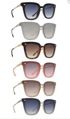 SUNGLASSES - Rounded Square Classic Style 6 Colors
