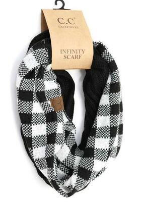SCARF - CC Buffalo Plaid Knit Infinity Scarf 5 Colors