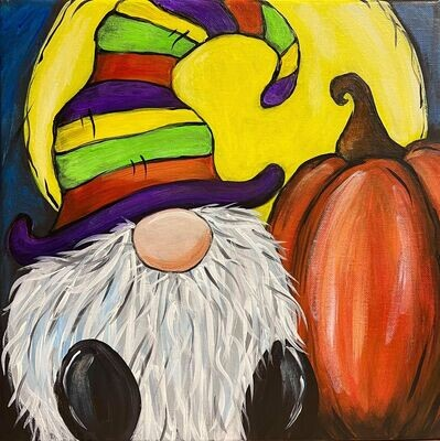 Halloween Gnome Paint and Sip