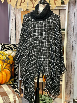 Cowl Neck Poncho by Simply Noelle 2 Colors