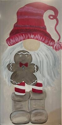 Gingerbread Gnome Paint and Sip