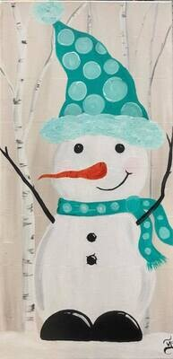 Jolly Snowman Paint and Sip