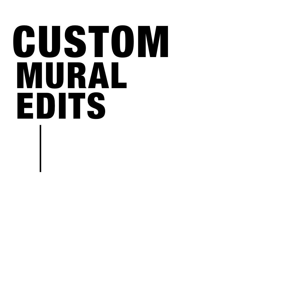 Custom mural edits