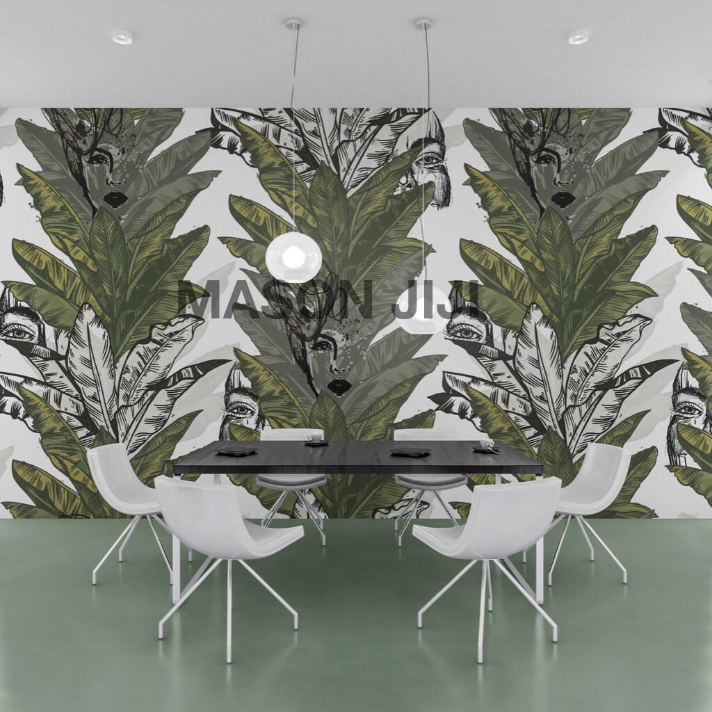 Femme Leaf Tree Wallpaper Mural
