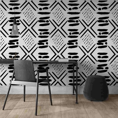 Tribal Mud Cloth Wallpaper