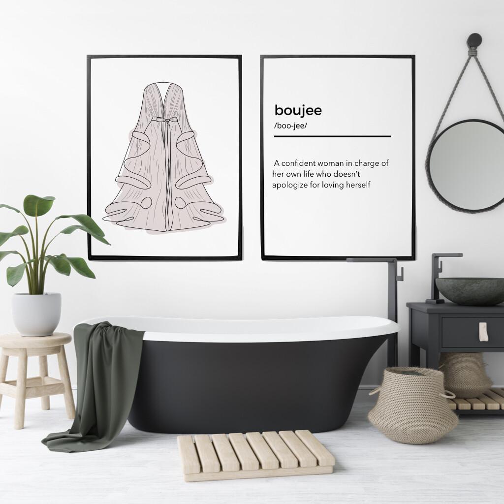 Boujee wall Print set