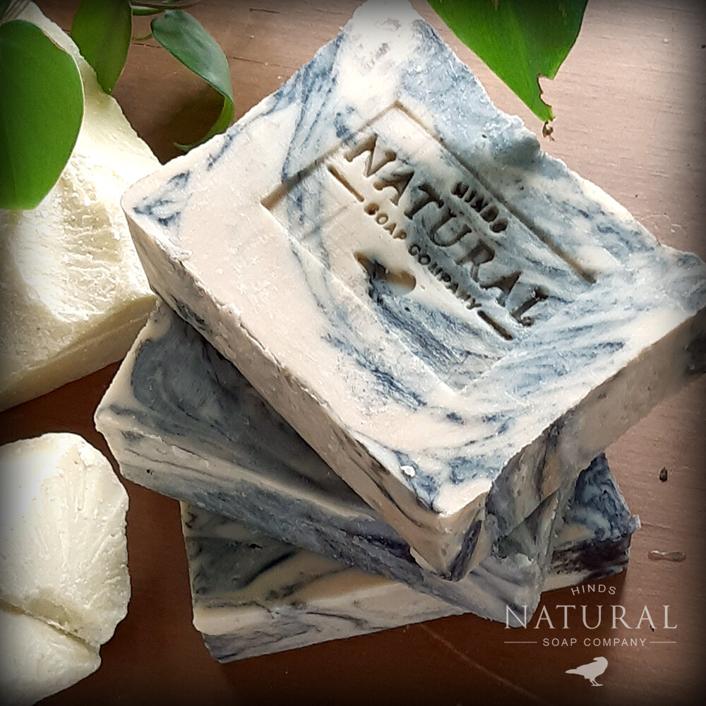 Tiger Butter Soap - Charcoal & Cocoa Butter Soap