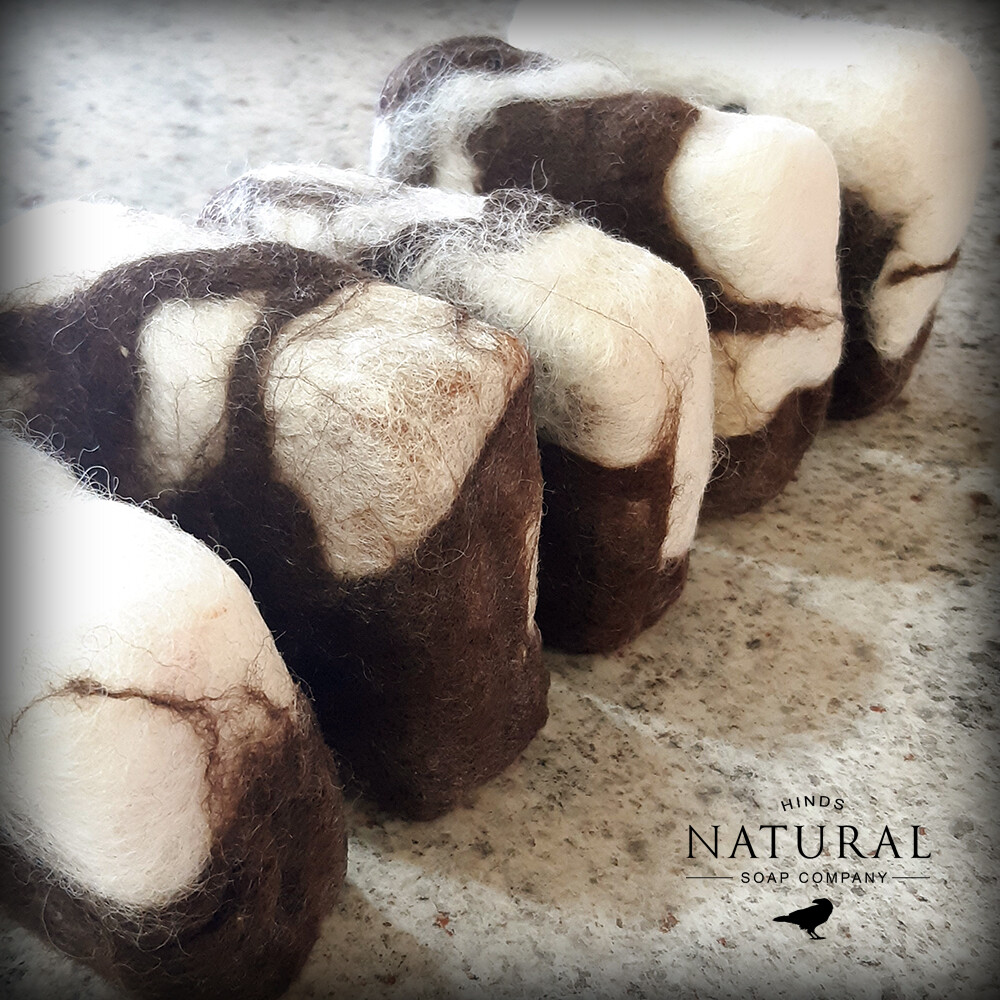 The Spotted Sheep - Felted Sheep Milk soap