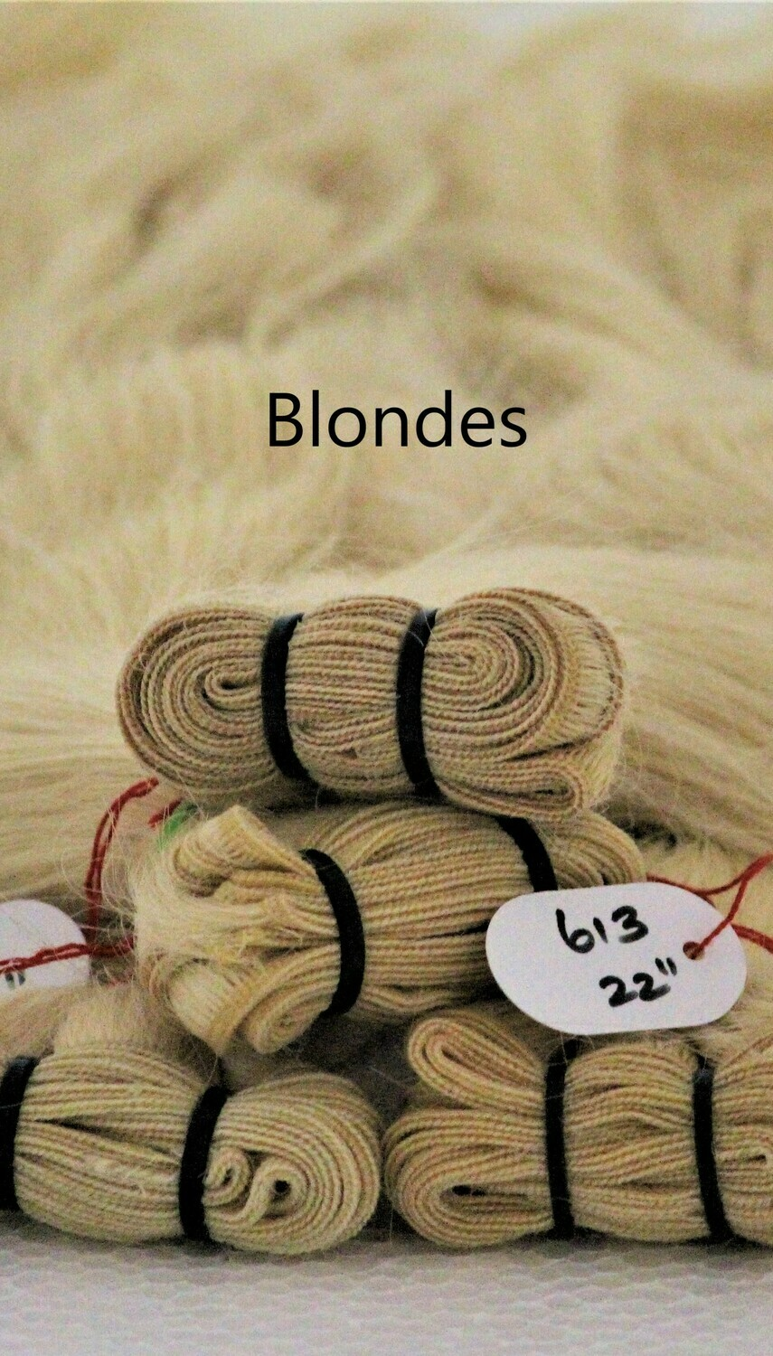 Blonde Weft Bundles