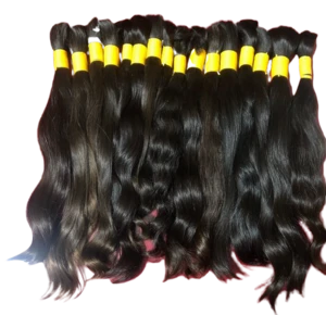 INDIAN TEMPLE REMY BRAIDING RAW WAVE  HAIR