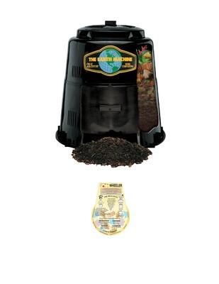 "Earth Machine Backyard Compost Bin - includes the ""Rottwheeler"" educational guide wheel."
