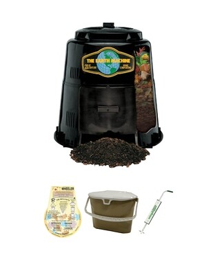 KIT 2 - Earth Machine with the Rottwheeler, Kitchen Collection Pail and the Wingdigger aerator.
