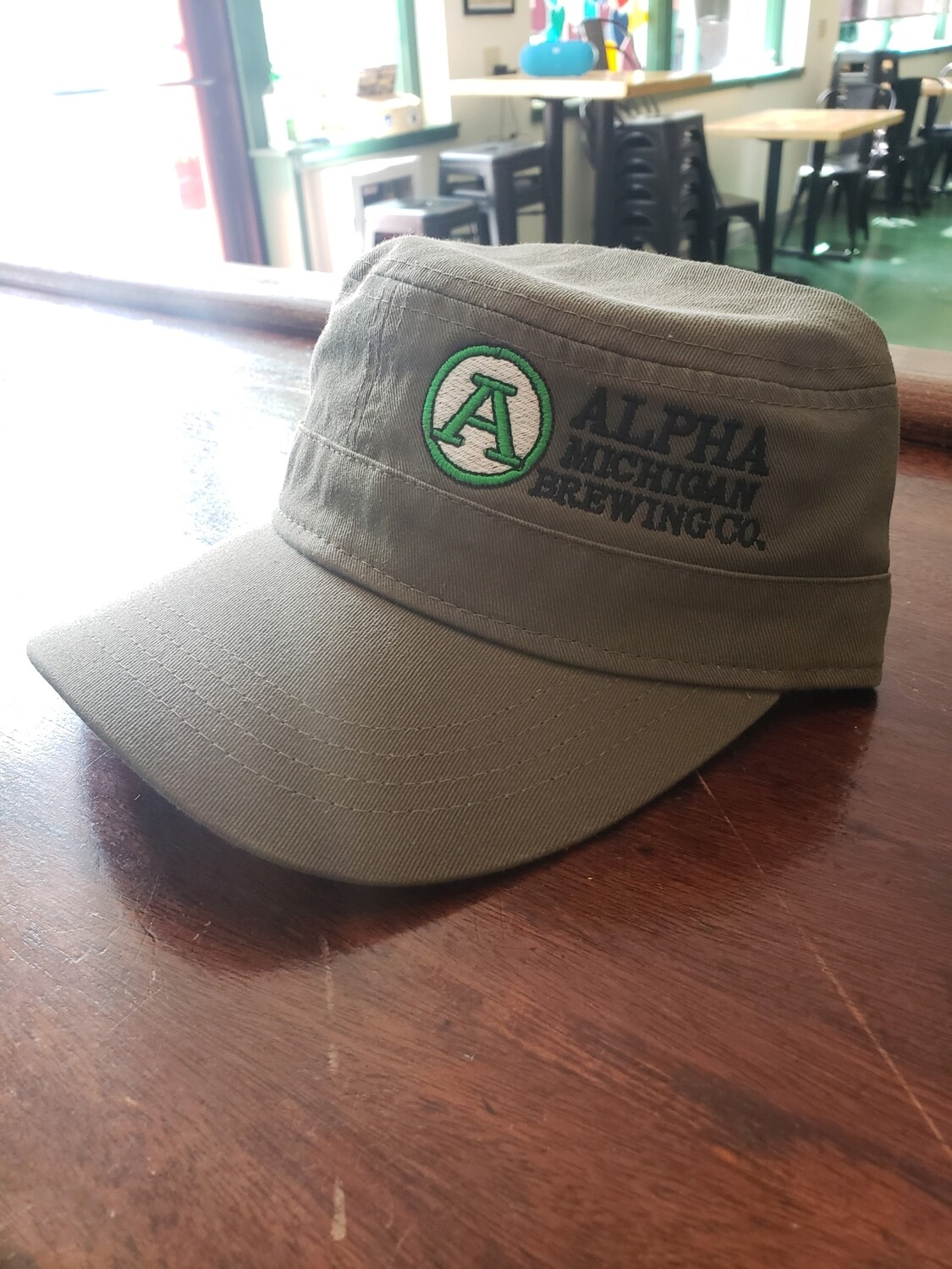 Military Style Hat with U.P.