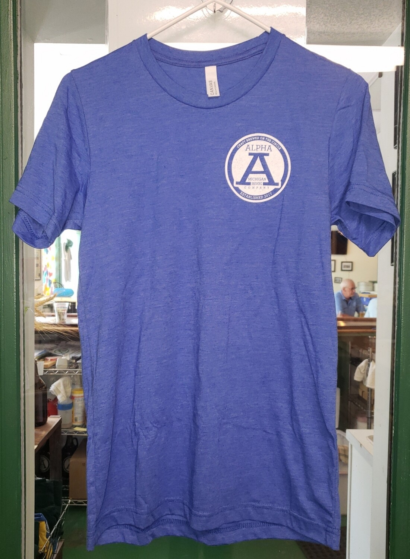 T Shirt:U/C Small Logo/Slogan on Back