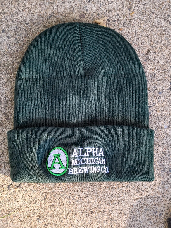 Winter Hat- Cuffed Beanie Green