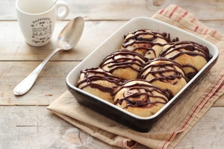 Briochettes vegan roulées au chocolat x 6