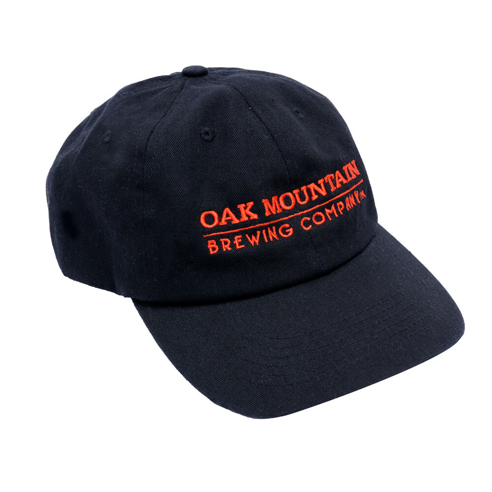 Cotton Twill Hat Black with Red Lettering