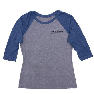 3/4 Sleeve Raglan T-Shirt Men's Navy Blue / Gray