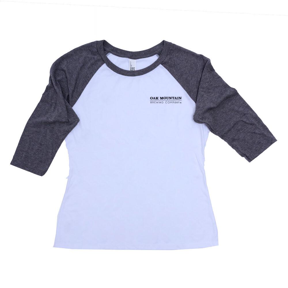 3/4 Sleeve Raglan T-Shirt Ladies Gray / White
