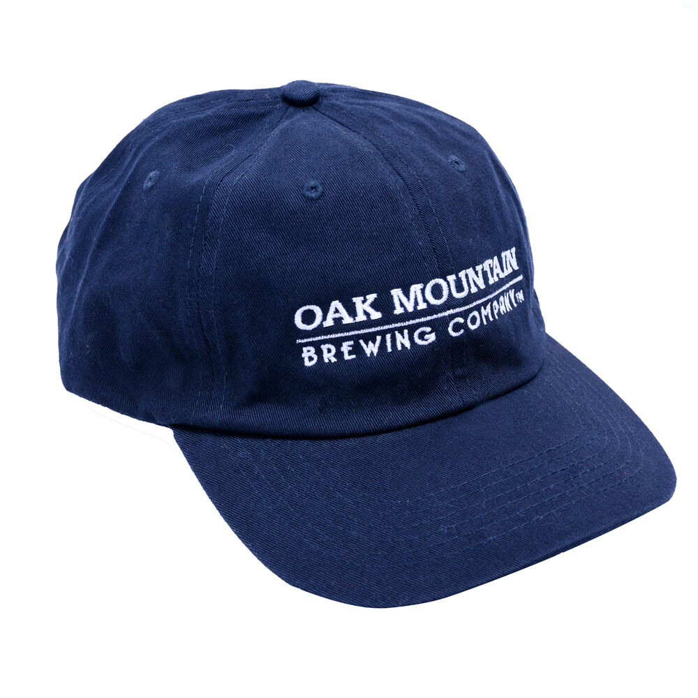 Cotton Twill Cap  Navy Blue with white lettering