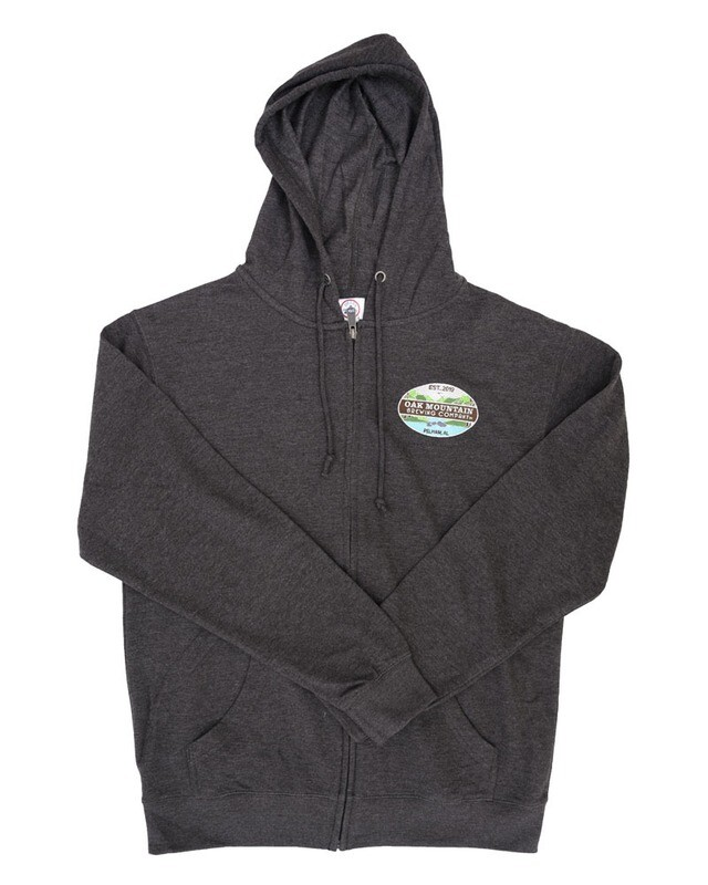French Terry Full-Zip Hoodie with full color logo