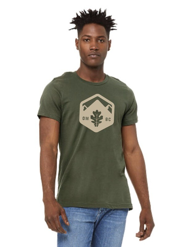Green T-Shirts with tan OMBC logo and name on back