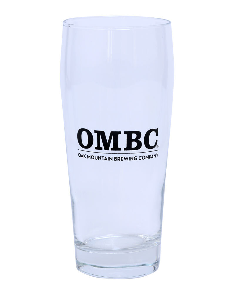 Libbey 16oz Becher beer glass with OMBC logo