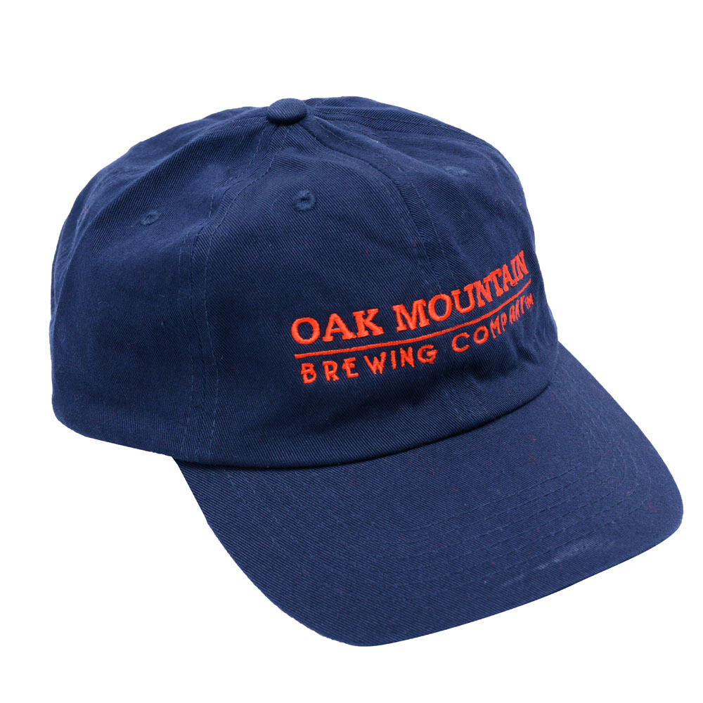 Cotton Twill Cap  Navy Blue with red lettering
