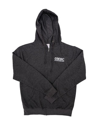French Terry Full-Zip Hoodie with white OMBC logo