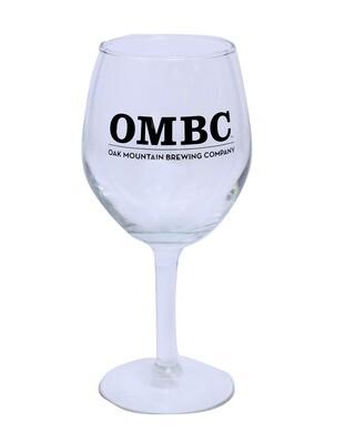 Libbey 11oz Citation wine glass with OMBC logo