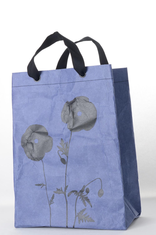 Shopper Mohn kobaltblau