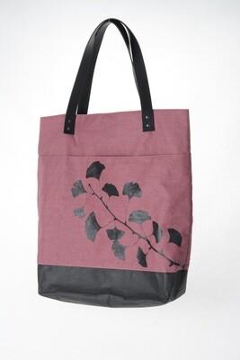 Schultertasche Ginkgo rosa