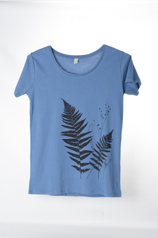 T-Shirt Farn (female) jeansblau