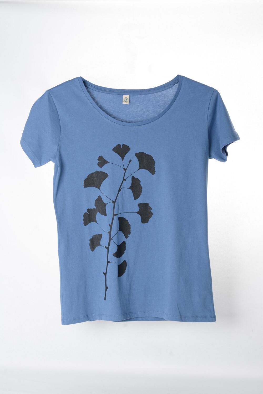 T-Shirt Ginkgo (female) jeansblau
