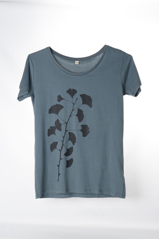 T-Shirt Ginkgo (female) grau