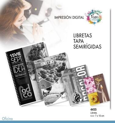 Libretas Tapa Semirígidas 7 X 10 cm