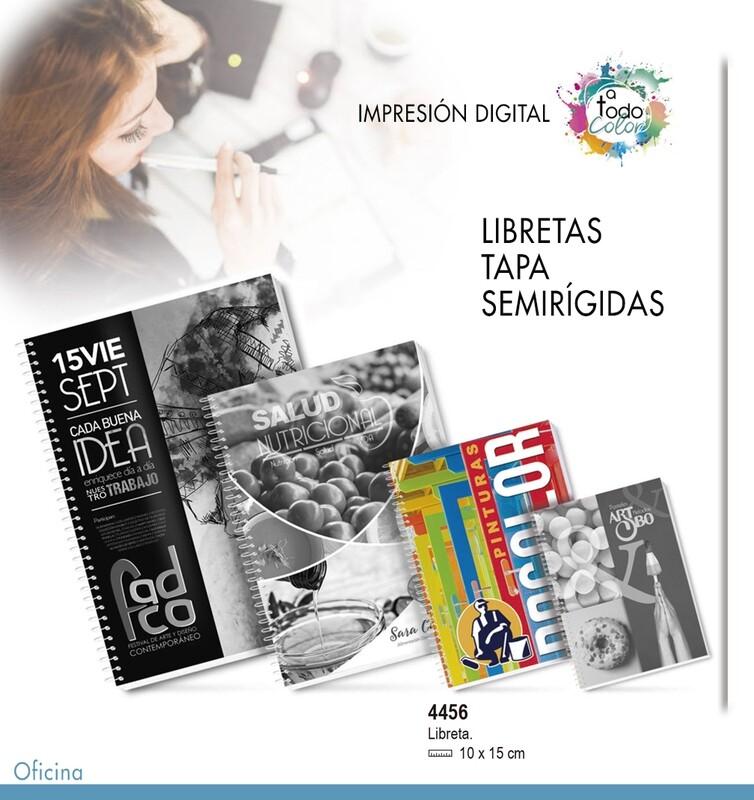 Libreta Tapa Semirígida 10 X 15 cm