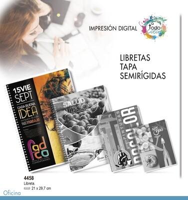 Libretas Tapa Semirígidas 21 X 29,7 cm