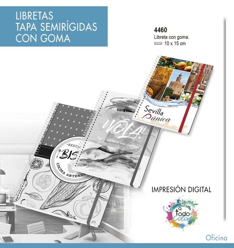 Libretas Tapa Semirígidas CON GOMA 10 X 15 cm