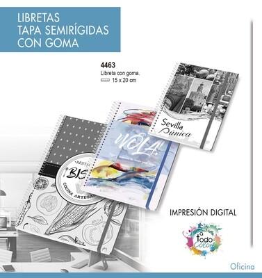 Libretas Tapa Semirígidas CON GOMA 15 X 20 cm