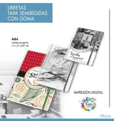 Libretas Tapa Semirígidas CON GOMA 21 X 29,7 cm