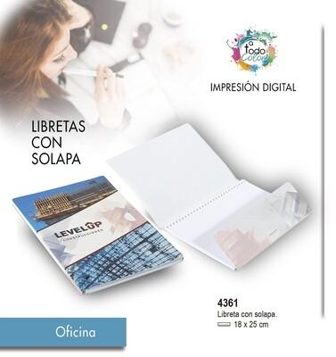 Libretas CON SOLAPA  18 X 25 cm