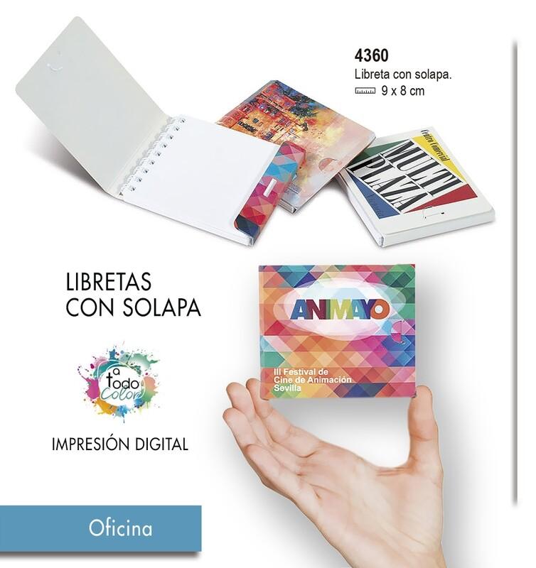 Libretas CON SOLAPA  9 X 8 cm