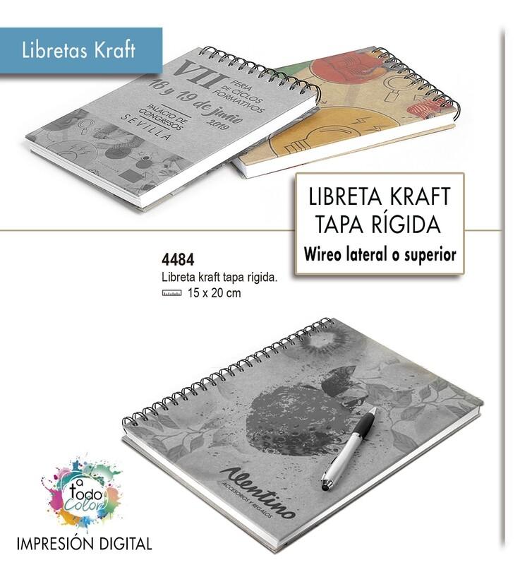 Libretas KRAFT tapa rígida  15 X 20 cm