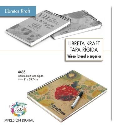 Libretas KRAFT tapa rígida  21 X 29,7 cm