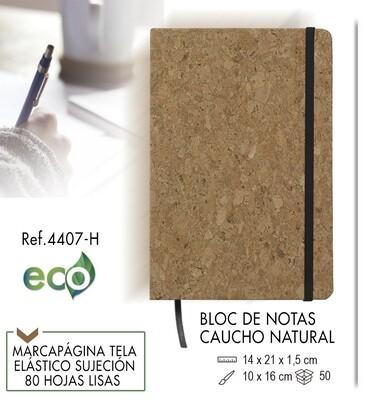 Bloc de notas ecológico caucho natural 14 X 21 cm
