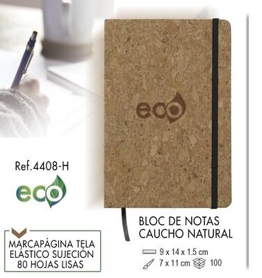 Bloc de notas ecológico caucho natural 9 X 14 cm