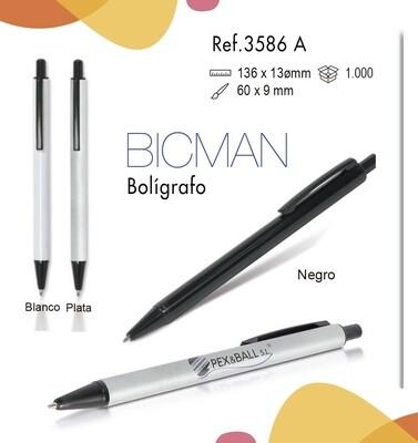 Bolígrafo Bicman. Clip metálico