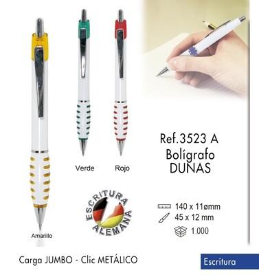 Bolígrafo Dunas. carga Jumbo y clip metálico