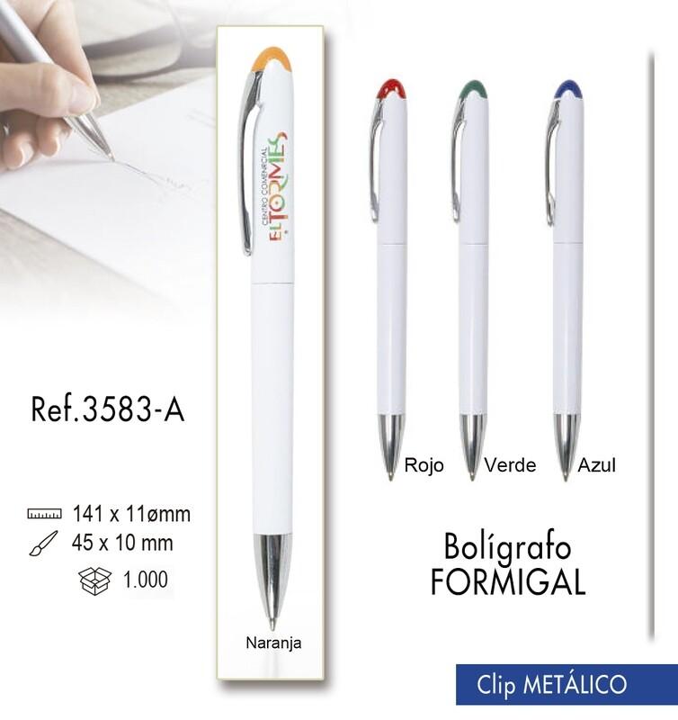 Bolígrafo Formigal. Clip metálico